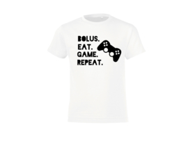 T-shirt - Bolus. Eat. Game. Repeat White
