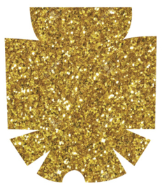 Omnipod Sticker - Gold Glitter