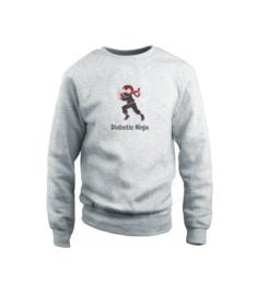 Sweater - Diabetic Ninja Grau
