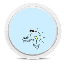 Freestyle Libre Sensor Sticker - Think Positive