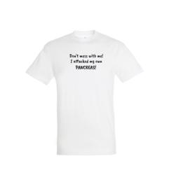 T-shirt - Don't mess Weiß