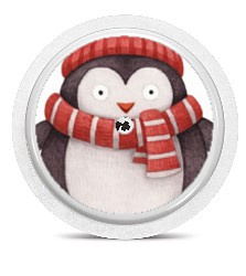 Freestyle Libre Sensor Sticker - Warm Pinguin