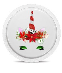 Freestyle Libre Sensor Sticker - Flower Unicorn