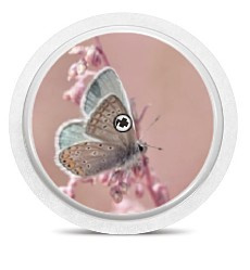 Freestyle Libre Sensor Sticker - Butterfly Pink