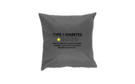 Pillow - Type 1 Diabetes Dark Grey