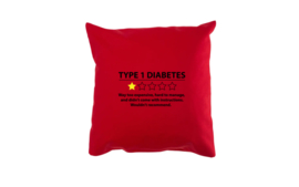 Pillow - Type 1 Diabetes Red