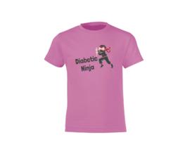 T-shirt - Diabetic Ninja Rosa