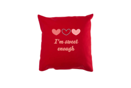 Pillow - I'm sweet enough Red