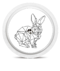 Freestyle Libre Sensor Sticker - Geo Rabbit