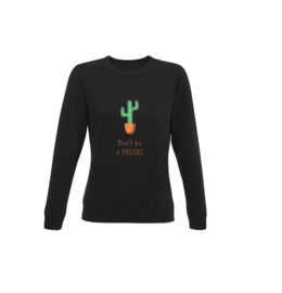 Sweater - Don't be a prick Black