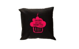 Pillow - Cupcakes Black