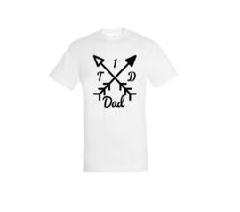 T-shirt - T1D Dad Weiß
