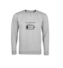 Sweater - My pancreas runs on batteries Grau