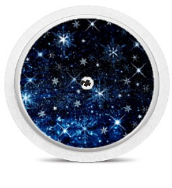 Freestyle Libre Sensor Sticker - Snow Stars