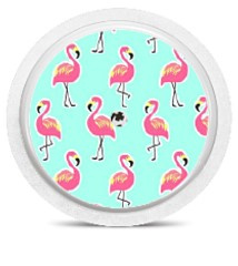 Freestyle Libre Sensor Sticker - Flamingo