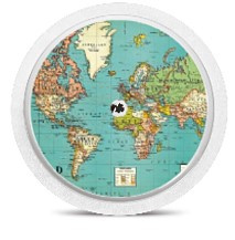 Freestyle Libre Sensor Sticker - World Map
