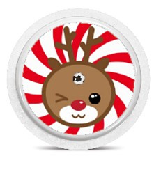 Freestyle Libre Sensor Sticker - Rudolph
