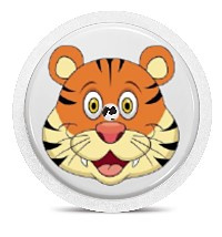 Freestyle Libre Sensor Sticker - Tiger