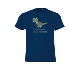 T-shirt - Dinosaur Dark Blue