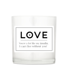 Luxury candle - Love