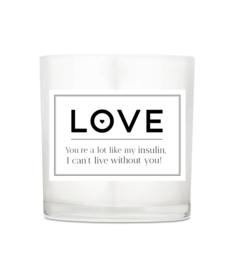 Luxuskerze - Love