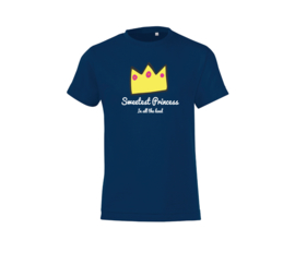 T-shirt - Sweetest Princess Dark Blue