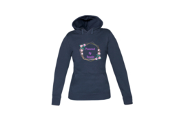 Hoodie - Flower Power Dark Blue