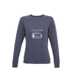 Sweater - My pancreas runs on batteries Navy