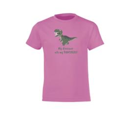 T-shirt - Dinosaur Rosa