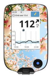 Freestyle Libre Reader Sticker - Blossoms