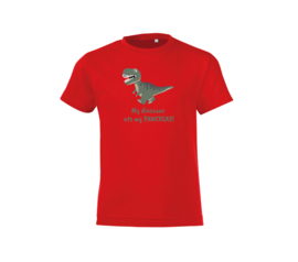 T-shirt - Dinosaur Red
