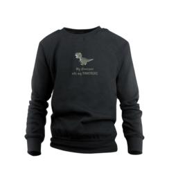 Sweater - Dinosaur Schwarz