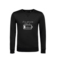 Sweater - My pancreas runs on batteries Schwarz