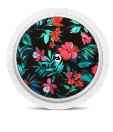 Freestyle Libre Sensor Sticker - Exotic Red flowers