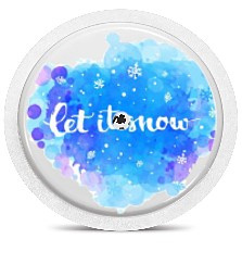 Freestyle Libre Sensor Sticker - Let It Snow