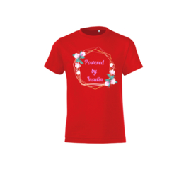 T-shirt - Powered by insulin Red
