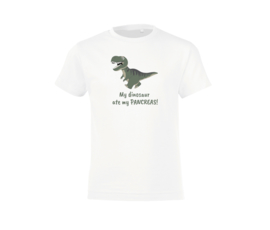T-shirt - Dinosaur White