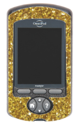 Omnipod PDM sticker - Gold Glitter