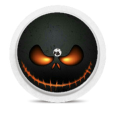 Freestyle Libre Sensor Sticker - Halloween Smiley