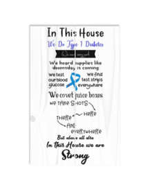 Wooden plate - In this house we do type 1 diabetes
