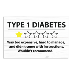 Wooden plate - Type 1 diabetes