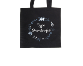 Tote bag - Type One-der-ful Black