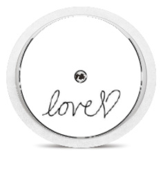 Freestyle Libre Sensor Sticker - Written Love