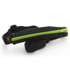 SPIbelt diabetic kids black pump pouch with green zipper