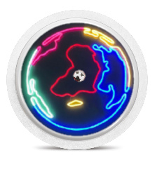 Freestyle Libre Sensor Sticker - Neon World
