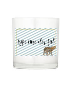 Luxury candle - Type One-der-ful
