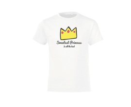 T-shirt - Sweetest Princess White