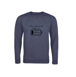 Sweater - My pancreas runs on batteries Navy
