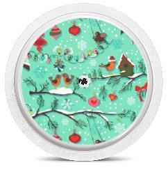 Freestyle Libre Sensor Sticker - Christmas Birds