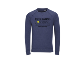 Sweater - Type 1 diabetes Navy